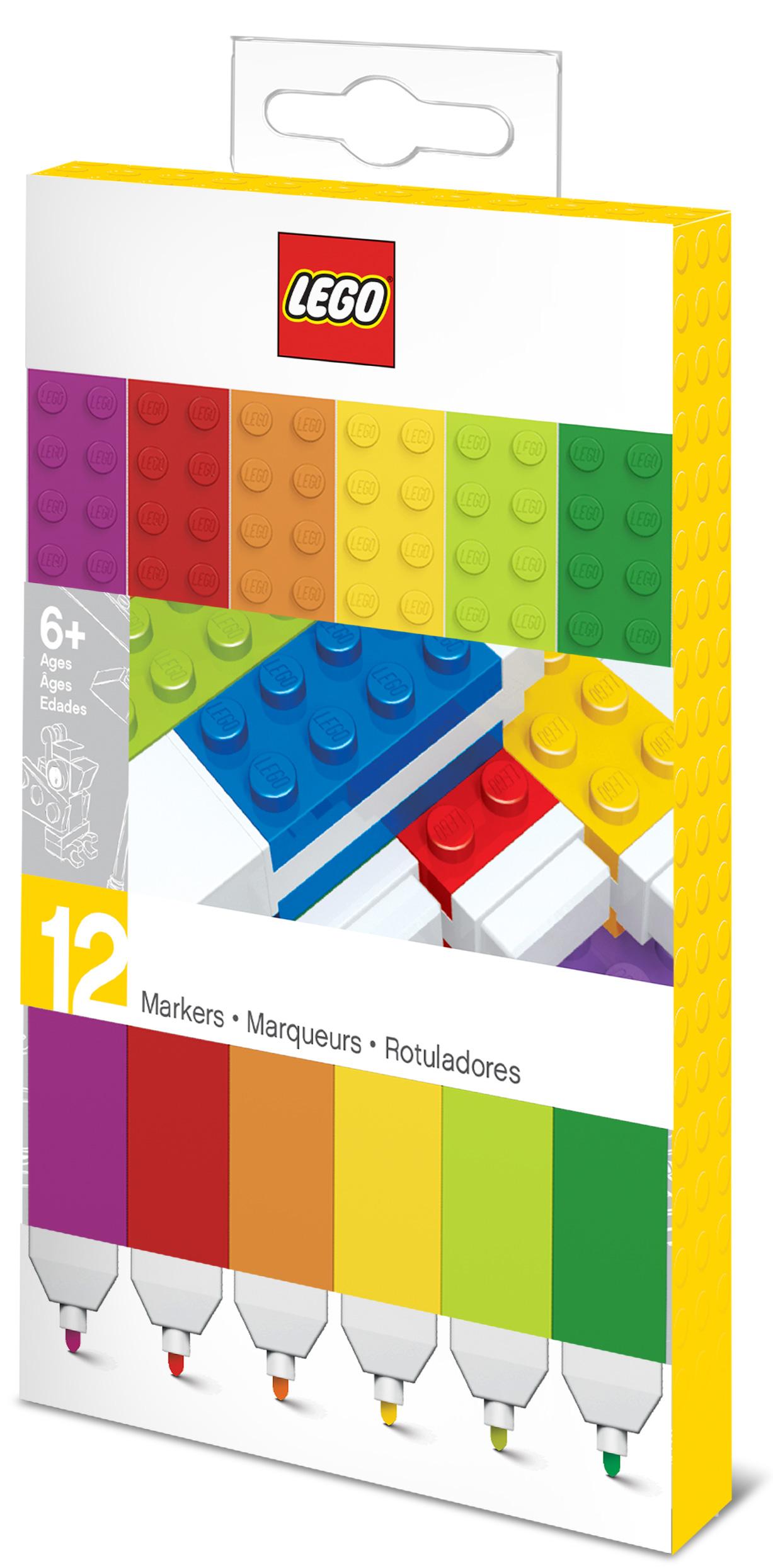 Набор маркеров LEGO 12-Pack (цветные)