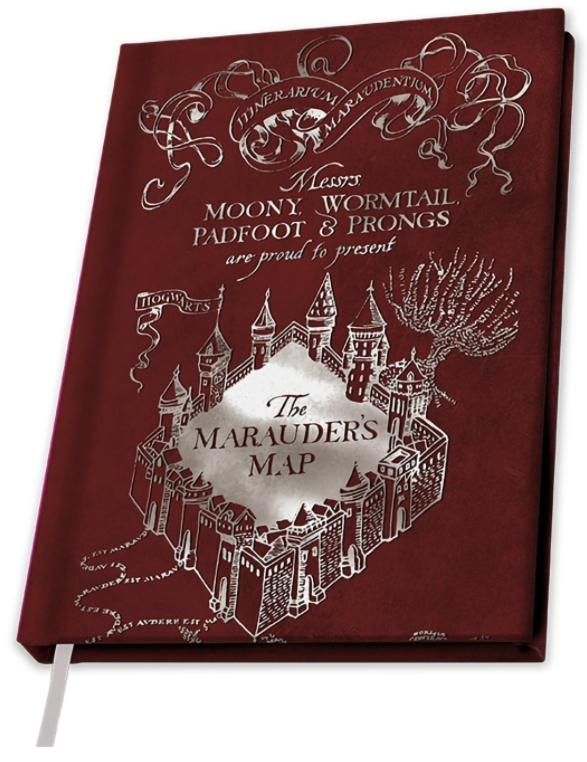 блокнот harry potter sirius Блокнот Harry Potter: Marauders Map (A5)