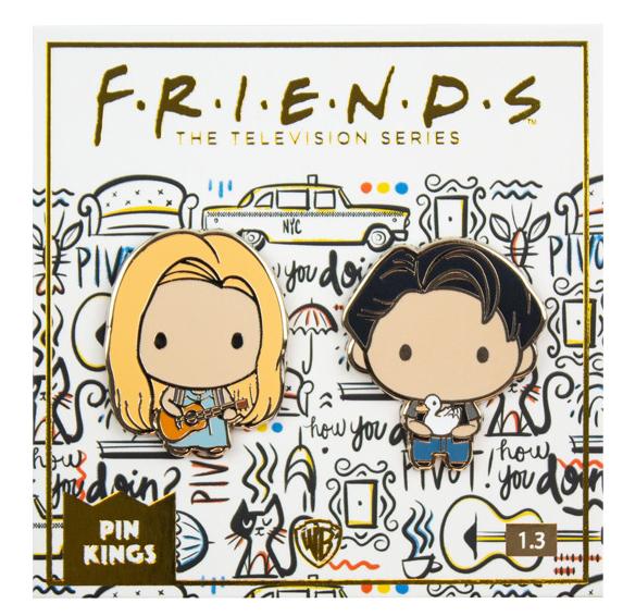 Набор значков Friends 1.3 Фиби и Джоуи Pin Kings 2-Pack