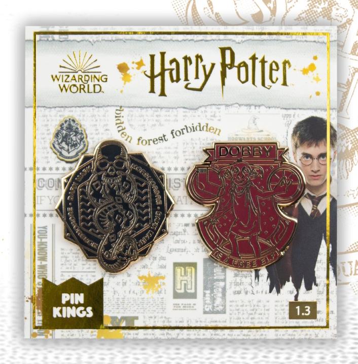 Набор значков Harry Potter 1.3 Чёрная метка и Добби Pin Kings 2-Pack