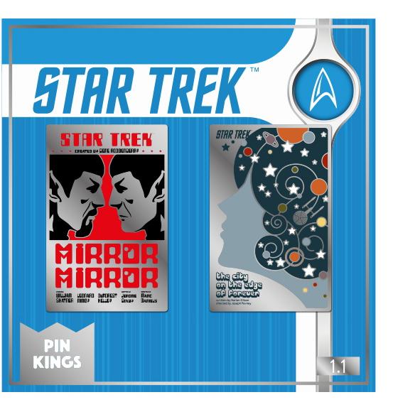 Набор значков Star Trek 1.1 Pin Kings 2-Pack