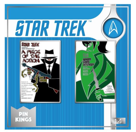 Набор значков Star Trek 1.4 Pin Kings 2-Pack