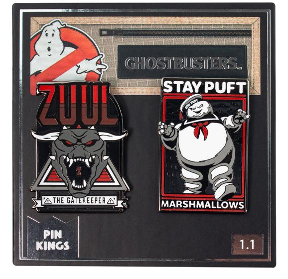 Набор значков Ghostbusters 1.1 Зуул и Стэй Пафт Pin Kings 2-Pack