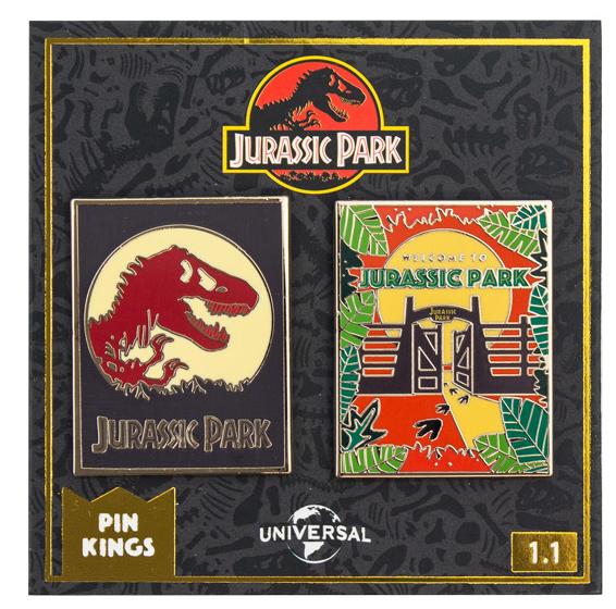 Набор значков Jurassic Park 1.1 Pin Kings 2-Pack