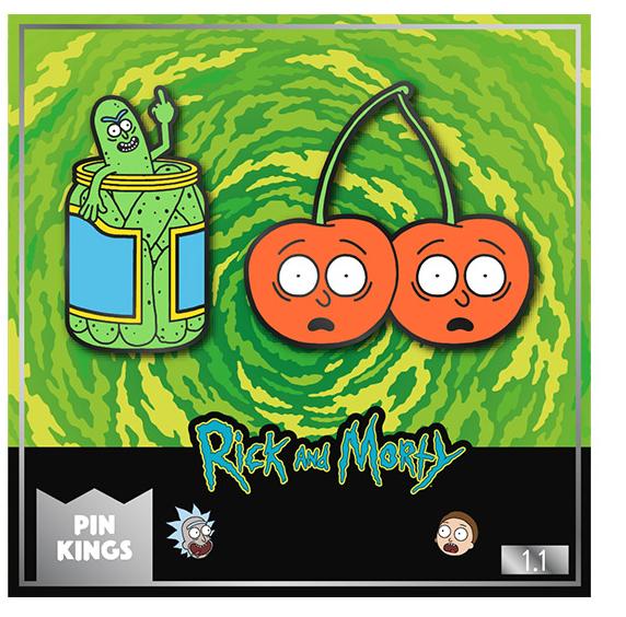 Набор значков Rick And Morty 1.1 Рассол и Вишня Pin Kings 2-Pack