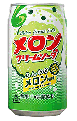 Напиток газированный Kobe Kyoryuchi Крем-сода Вкус дыни (350мл)