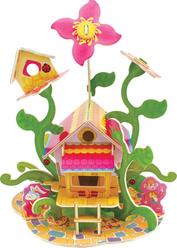Сборная 3D-модель Лесные домики: Цветочный дом (FHS-003)