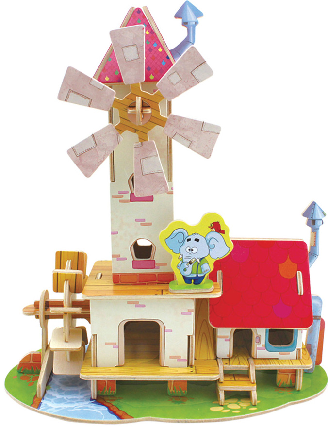 Сборная 3D-модель Лесные домики: Дом мельника (FHS-001)