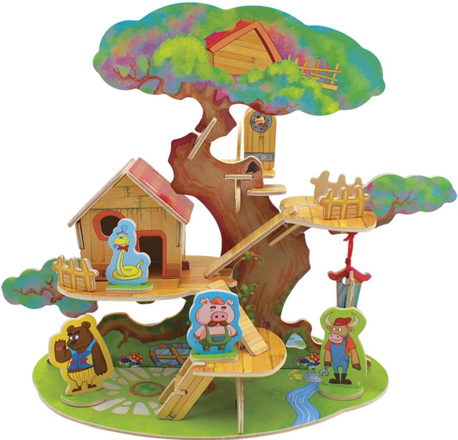 Сборная 3D-модель Лесные домики: Дом на дереве (FHS-004)