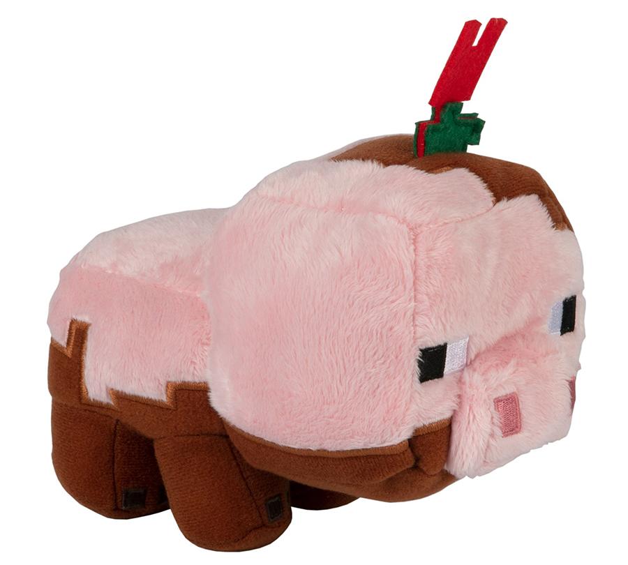 Мягкая игрушка Minecraft: Earth Happy Explorer Muddy Pig (17см)