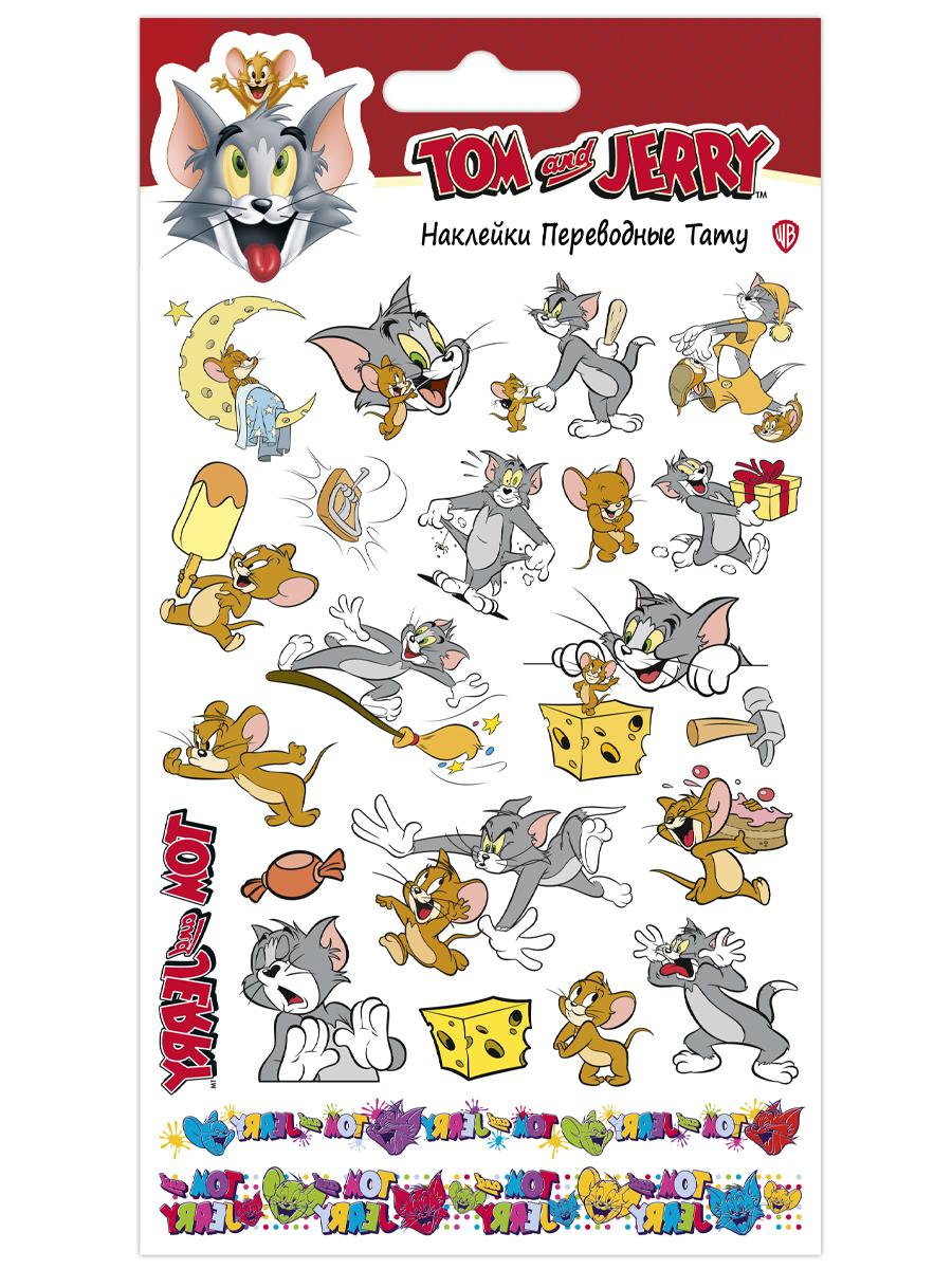 Набор татуировок переводных Том и Джерри 1 (110х200)