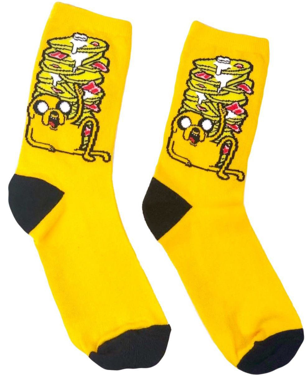 Носки Время приключений – Джейк с блинами (желтые)