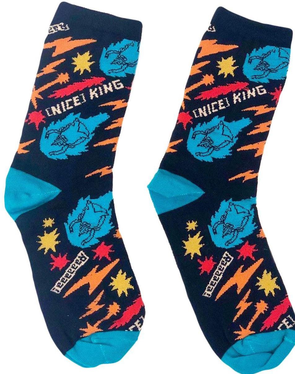 Носки Время приключений – Nice King (темно-синие)