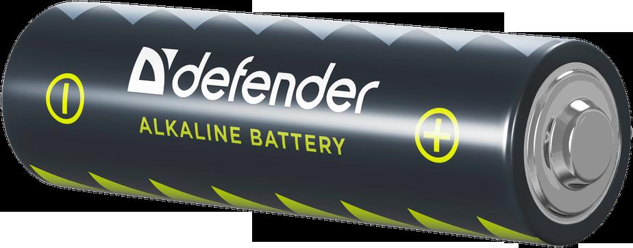 Батарейка алкалиновая Defender LR6-4F AA (в пленке 4шт.) батарейка perfeo алкалиновая pf lr6 4sh