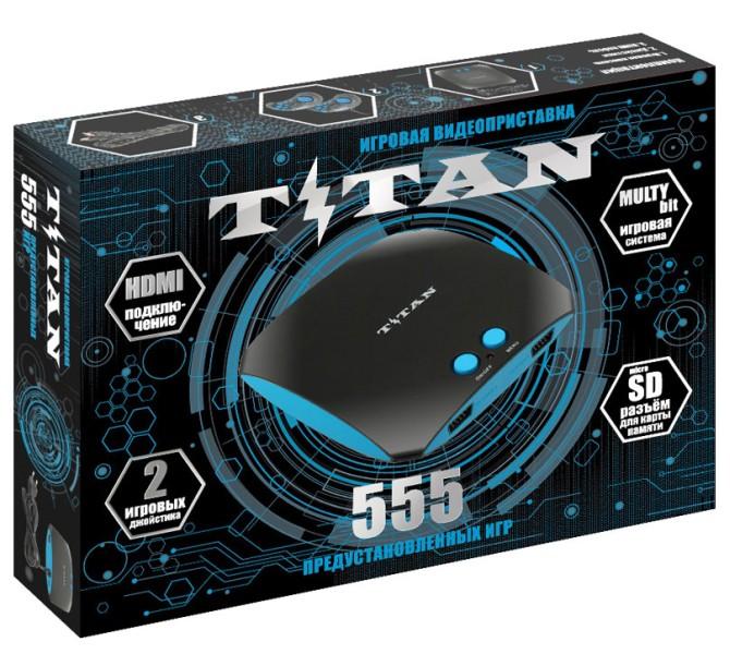 SEGA Magistr Titan (8+16Bit) (HDMI) (черный) + 555 встроенных игр