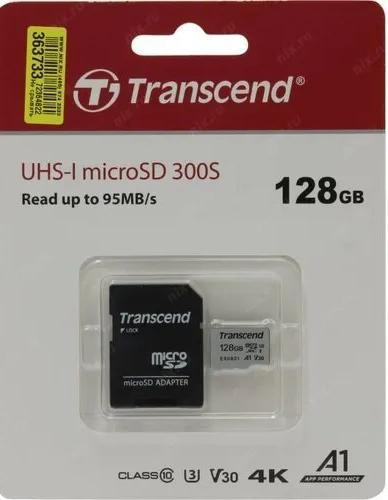 Карта памяти microSDXC Transcend 300S 128GB