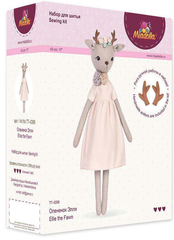 Набор для изготовления игрушки Miadolla: Оленёнок Элли