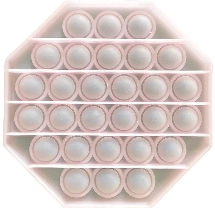 Игрушка пупырка-антистресс Pop it – Восьмиугольник светящийся 4
