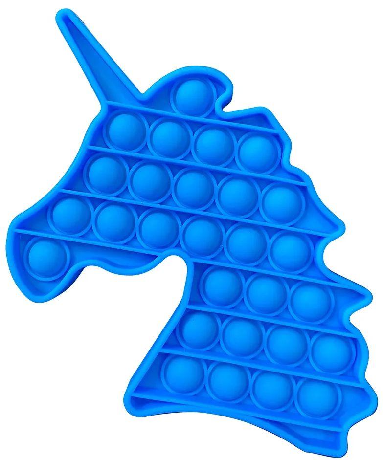 Игрушка пупырка-антистресс Pop it – Единорог голубой 1