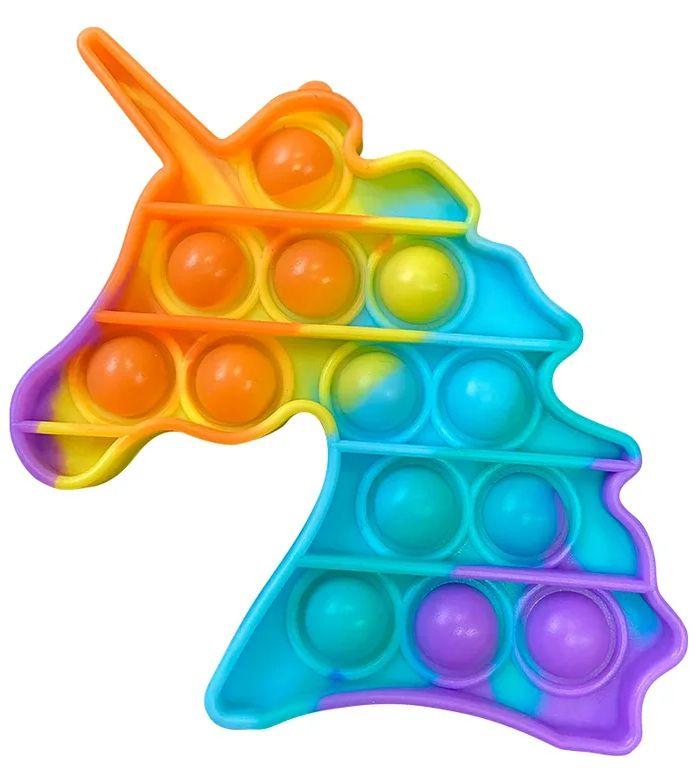 Игрушка пупырка-антистресс Pop it – Единорог радужный 2