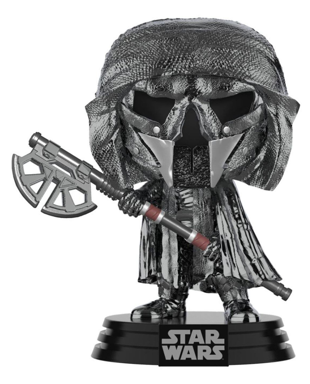 Фото - Фигурка Funko POP: Star Wars Rise of Skywalker Knight Of Ren – Long Axe Hematite Chrome Bobble-Head (9,5 см) фигурка funko pop star wars rise of skywalker – jannah bobble head 9 5 см
