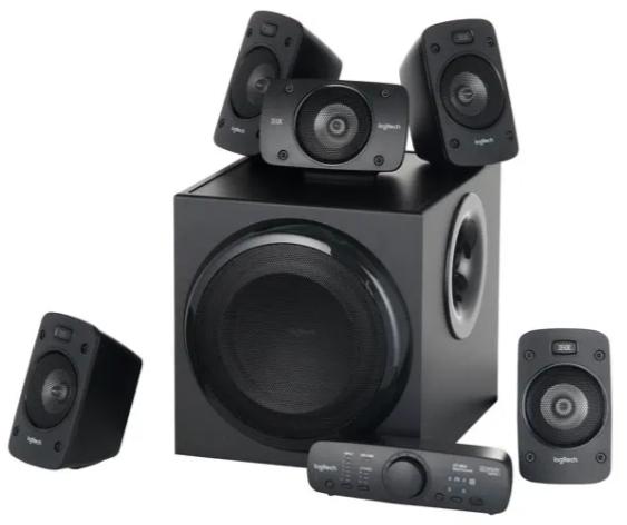 Колонки Logitech Speaker System 5.1 Z-906 500Вт с пультом ДУ для PC (Surround Sound) (черный)