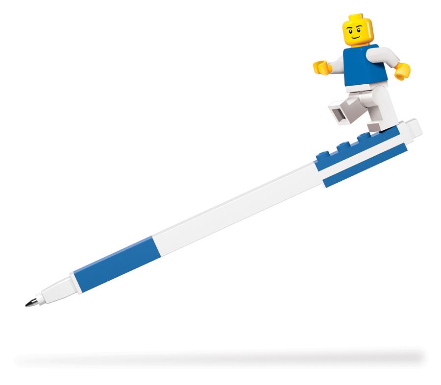 Ручка LEGO с минифигуркой LEGO Classic чернила синие