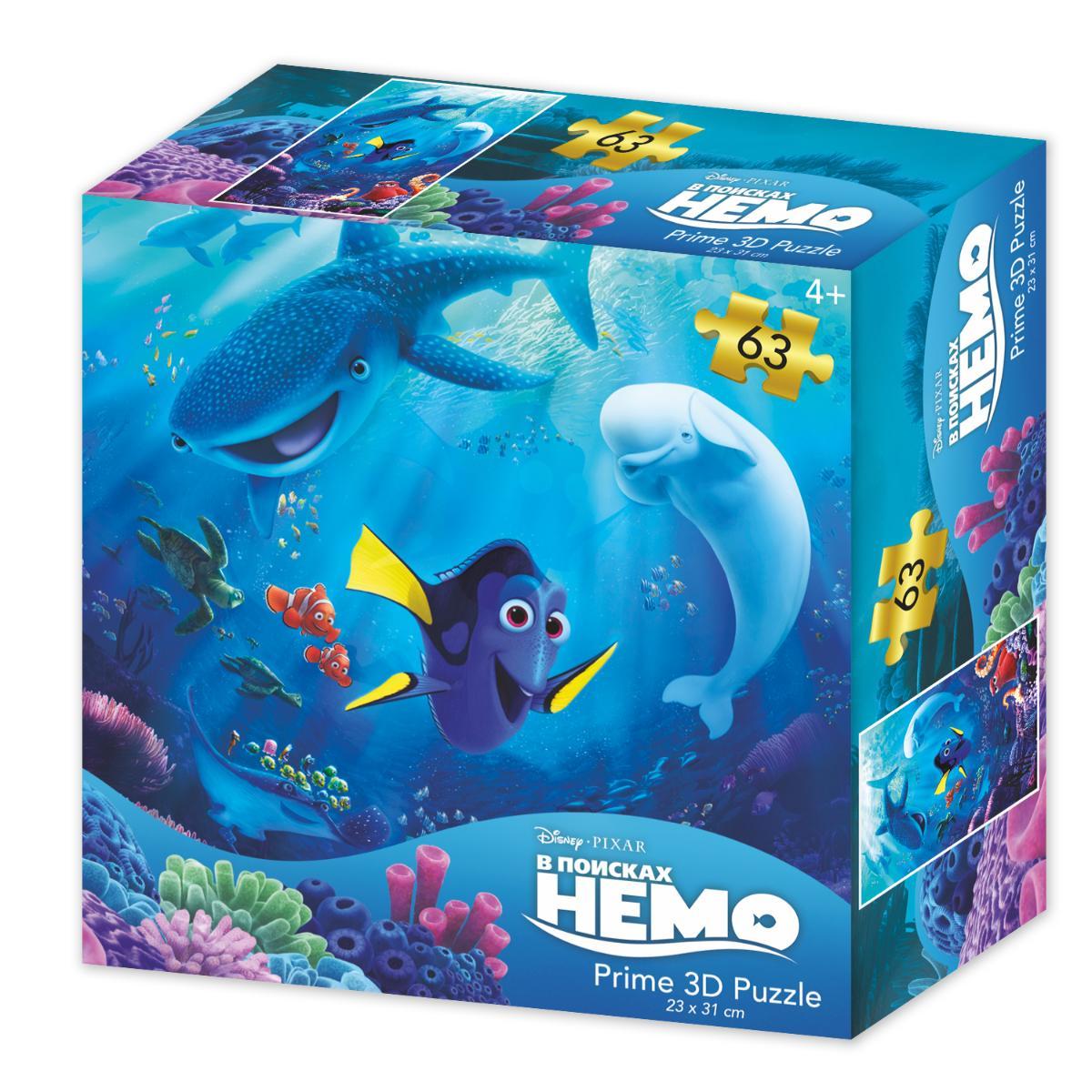 Super 3D Puzzle: Disney В поисках Немо (63 элемента)