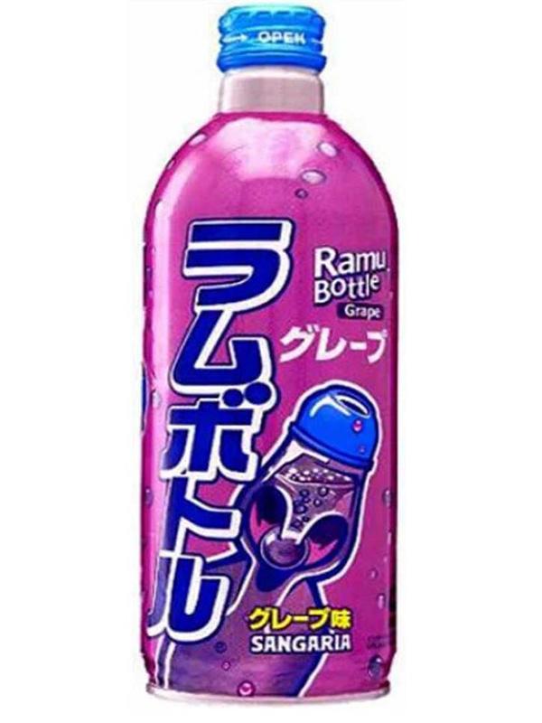Лимонад газированный Ramune: Lemonade Grape – Вкус винограда (500мл)