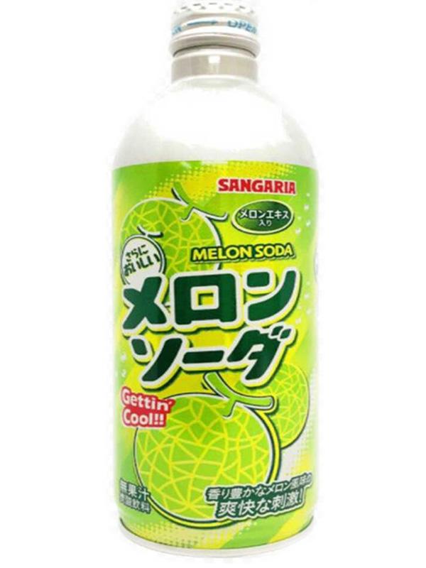 Лимонад газированный Ramune: Lemonade Melon – Вкус дыни (500мл)