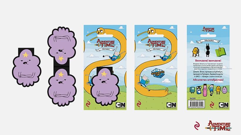 Закладка Adventure Time: Принцесса Пупырка – магнитная (6 шт.)