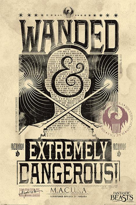 Постер Fantastic Beasts – Extremely Dangerous