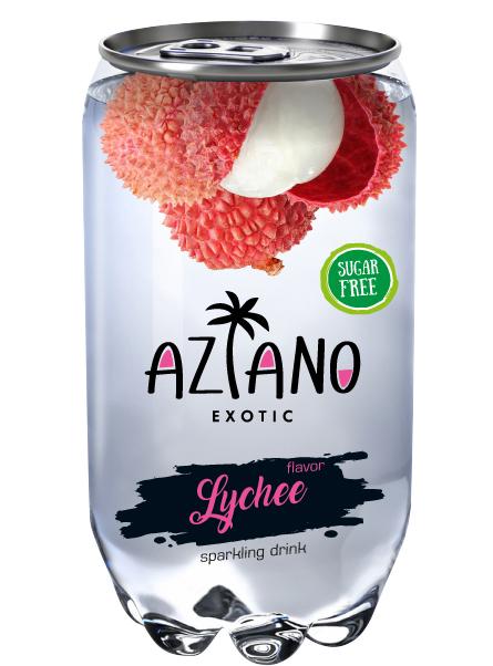 Напиток газированный Aziano Вкус личи (350 мл)