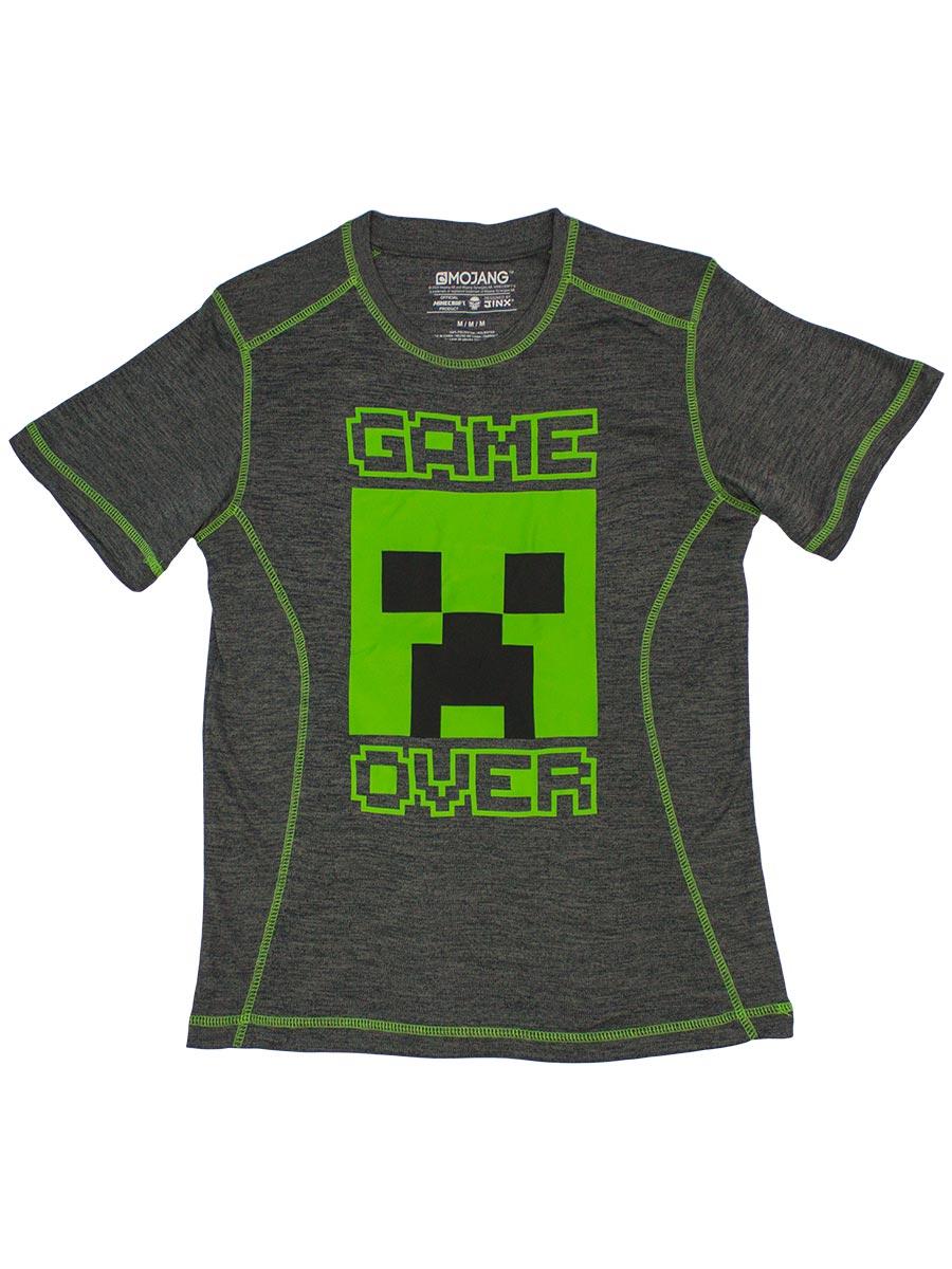 Футболка Minecraft – Game Over (серая)