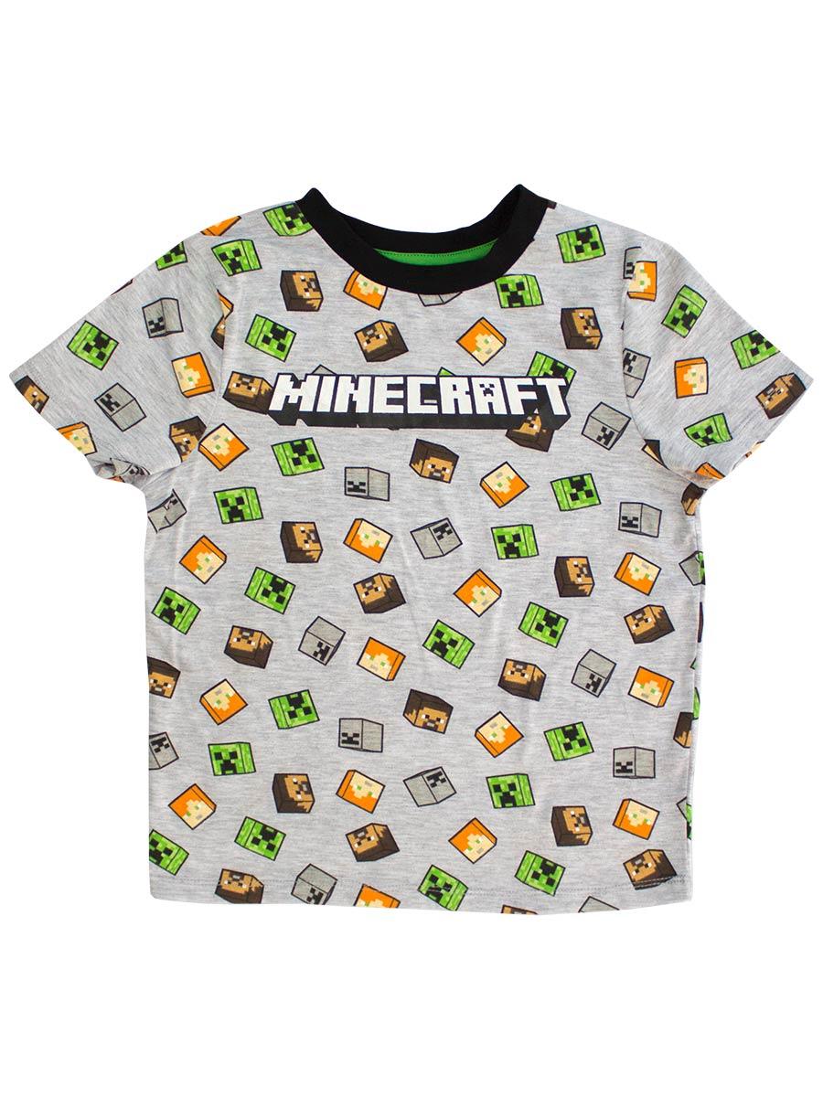 Футболка Minecraft – Heads (серая)