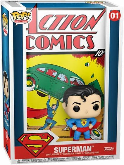 Фигурка Funko POP Comic Cover: Action Comics DC – Superman (9,5 см) dc universe justice league unlimited fan collection action figure superman includes mini kandor