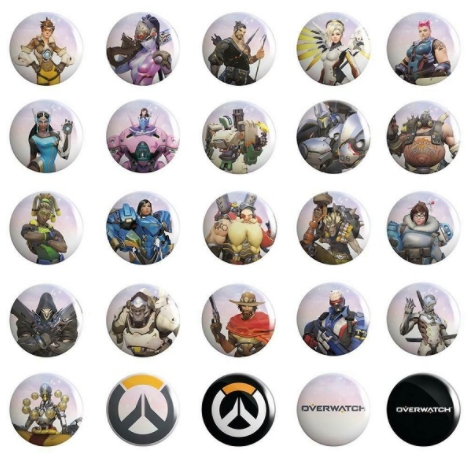 Набор значков Overwatch Buttons 50-Pack