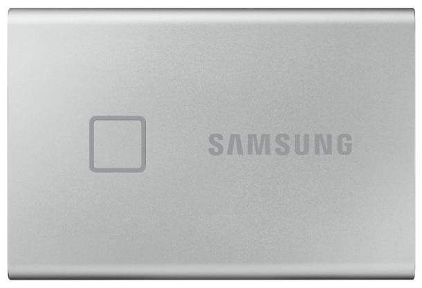 Твердотельный накопитель Samsung SSD T7 Touch 1TB USB Type-C (серебряный)