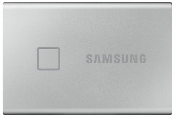 Твердотельный накопитель Samsung SSD T7 Touch 2TB USB Type-C (серебряный)