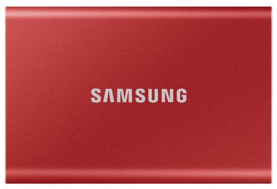 Твердотельный накопитель Samsung SSD T7 Touch 500GB USB Type-C (красный)