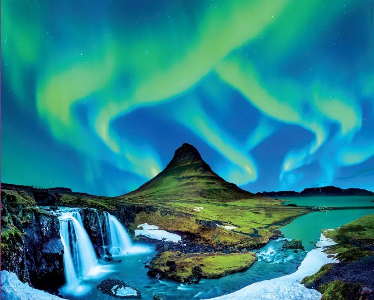 Puzzle Северное сияние: Исландия (1500 деталей)