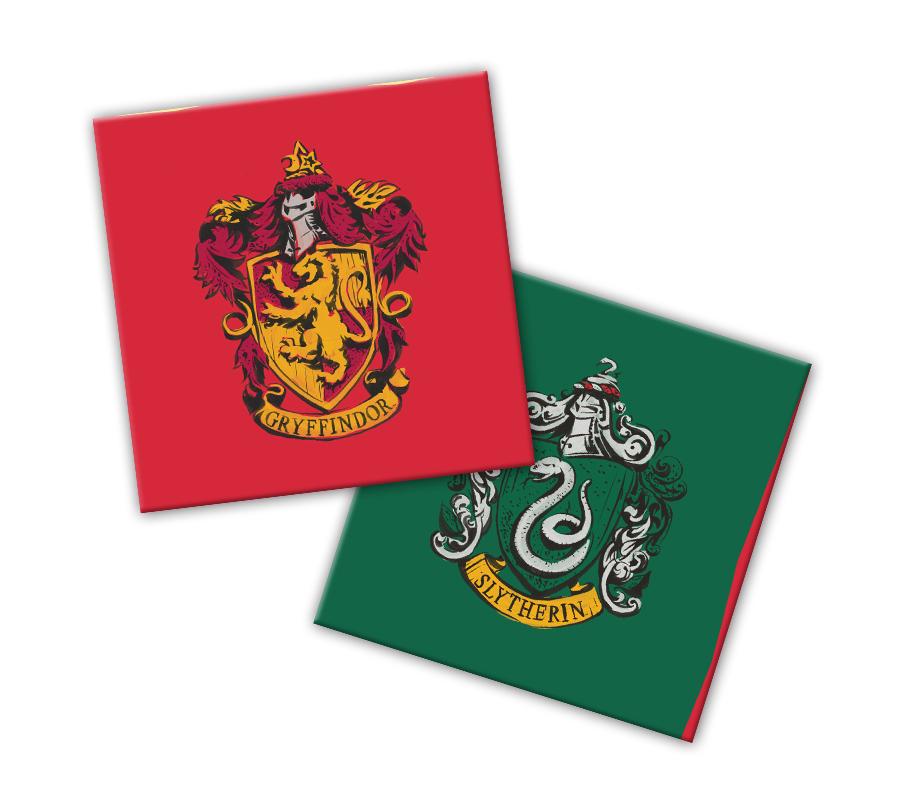 Салфетки бумажные Harry Potter: Гербы (трехслойные желтые 33x33см, 20 шт)