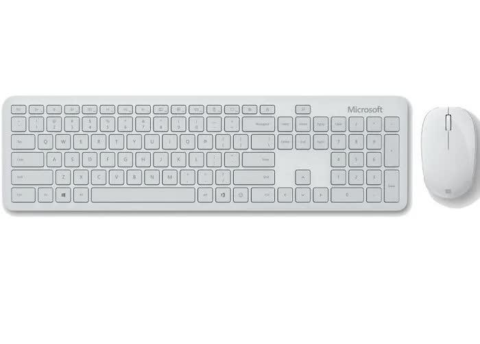 Комплект (клавиатура+мышь) Microsoft Bluetooth Desktop Gray беспроводной для PC