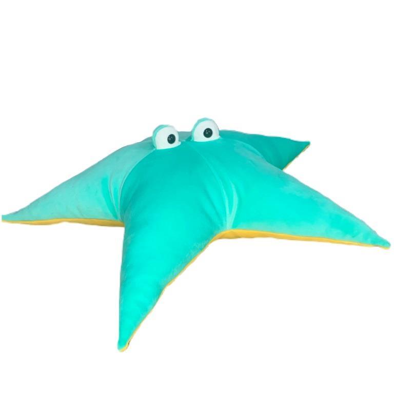 Мягкая игрушка-подушка Морская звезда бирюзовая (44 см)