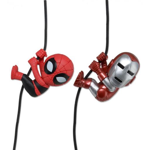 Набор фигурок Scalers Mini Figures. SDCC 2014 – Ironman/Spiderman (Characters). 2 Pack (5 см)