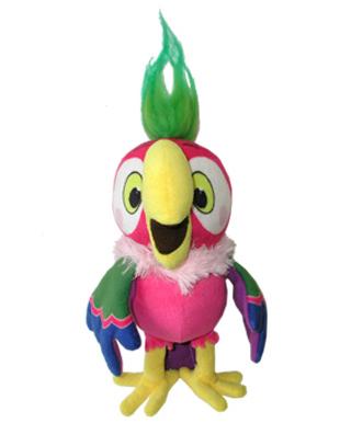 Мягкая игрушка со звуком Попугай Кеша (17см)