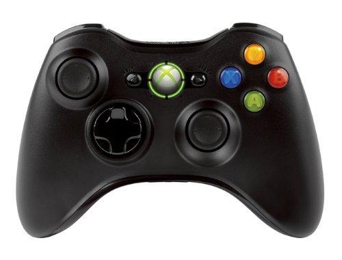 Беспроводной геймпад для Xbox 360 (черный)Использующий оптимизированную технологию, черный беспроводной геймпад Xbox 360 NSF-00002 работает на расстоянии 9 метров до 40 часов от двух батарей типоразмера АА. Наглядный сигнал сообщит о разрядке батарей, чтобы подключить зарядное устройство, не прерывая игры<br>