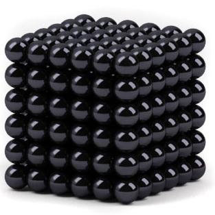 Головоломка Неокуб Альфа (5мм, черный)Головоломка Неокуб Альфа (5 мм, черный) представляет собой магнитный конструктор из 216 шариков-магнитов, которые можно соединять друг с другом, образуя множество объемных фигур.<br>