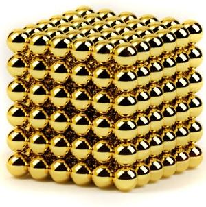 Головоломка Неокуб Альфа (5мм, золотой)Головоломка Неокуб Альфа (5 мм, золотой) представляет собой магнитный конструктор из 216 шариков-магнитов, которые можно соединять друг с другом, образуя множество объемных фигур.<br>