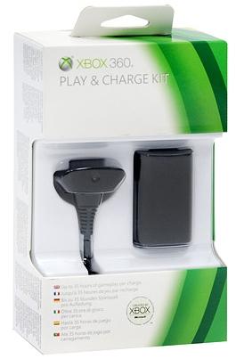 Зарядный комплект для черного геймпада Play & Charge Kit Xbox360 от 1С Интерес